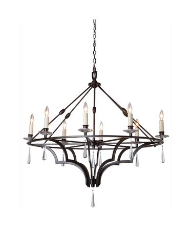 Shown in Dark Brown finish and Crystal Drops accent