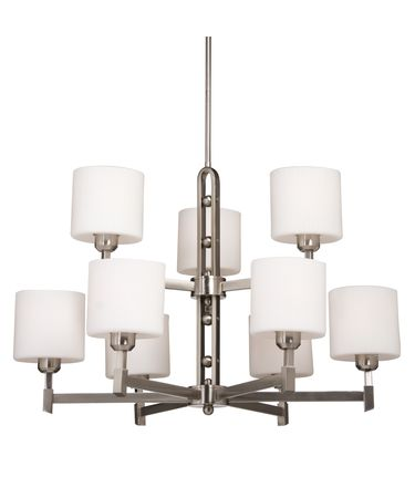 Shown in Brushed Nickel finish, Oval - Opal and Ribbed glass and Black Tinted Organza shade