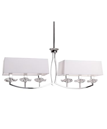 Shown in Chrome finish and Black Hard Back Fabric shade