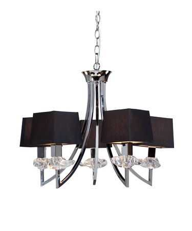 Shown in Chrome finish and White Hard Back Fabric shade