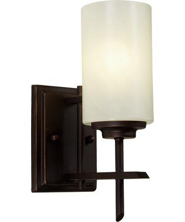 Shown in Oil Rubbed Bronze finish, Cream glass and White Fabric shade