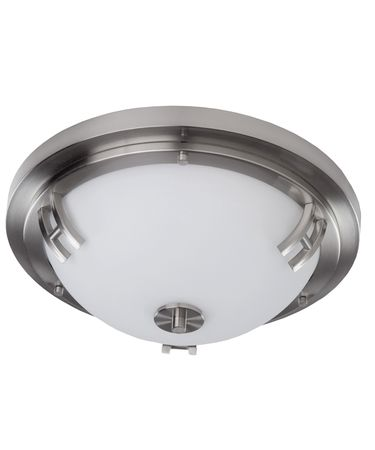 Shown in Polished Nickel finish and Opal glass