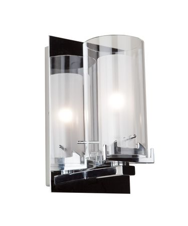 Shown in Chrome finish and Frosted Encased Double Glass glass