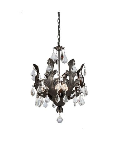Shown in Bronze finish and Pendalogues crystal