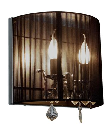 Shown in Polished Nickel finish and Black shade