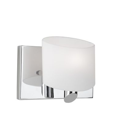 Shown in Chrome finish and Frosted White glass