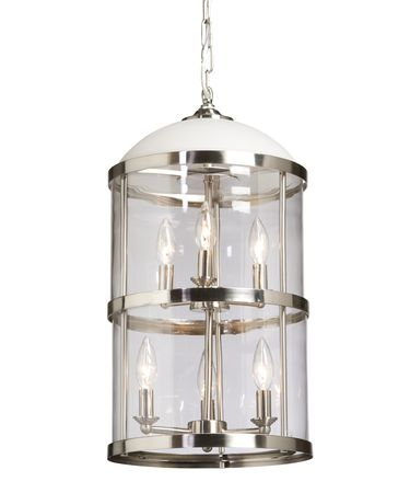 Shown in Polished Nickel finish and Clear Cylindrical Glassware glass