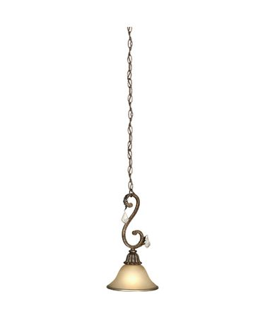 Shown in Bronze finish and Caramelized glass