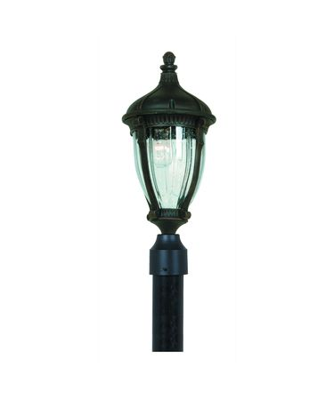 Shown in Oil Rubbed Bronze finish, Optic Clear glass and Fabric shade