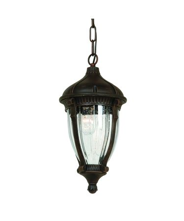 Shown in Oil Rubbed Bronze finish, Optic Clear glass and Toile Patterned Fabric shade