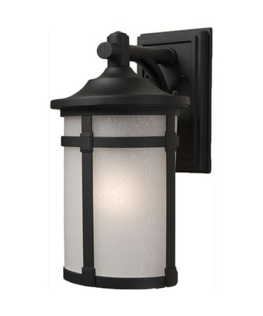 Shown in Black finish, White Linen glass and Crystal Bobeche accent