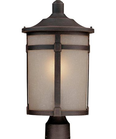 Shown in Bronze finish and Soft Linen glass