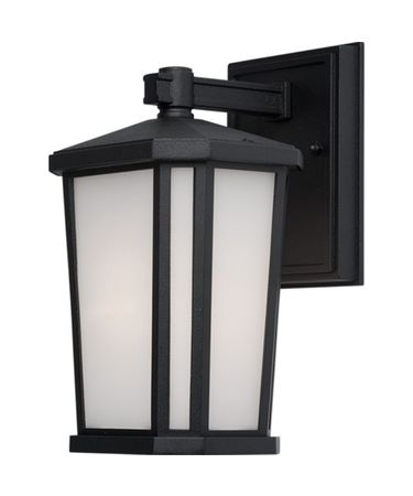 Shown in Black finish and White glass