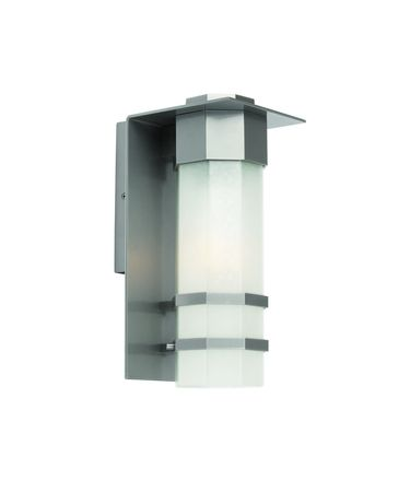 Shown in Slate finish and Opal White glass