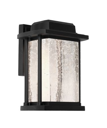 Shown in Black finish and Clear Sparkly Seeded glass