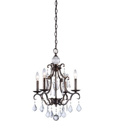 Shown in Dark Brown finish and Pendalogues crystal