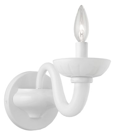 Shown in White finish and Milk Glass glass