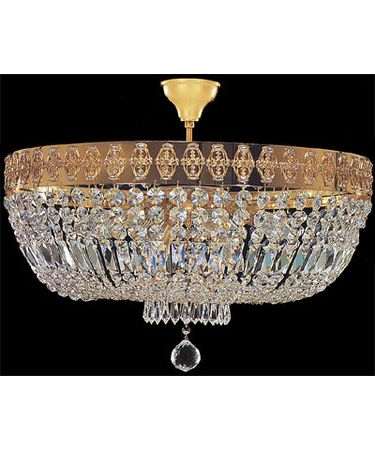 Shown In Polished Brass finish with Swarovski Spectra Octagons crystal