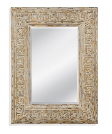 Shown in Antique White and Gold finish