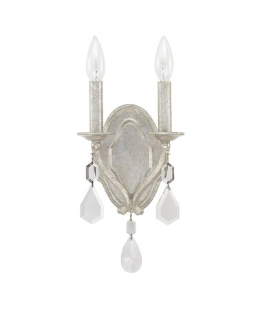 Shown in Antique Silver finish and Clear crystal