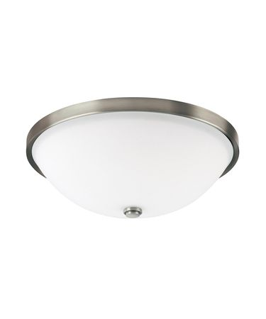 Shown in Antique Nickel finish and Soft White glass