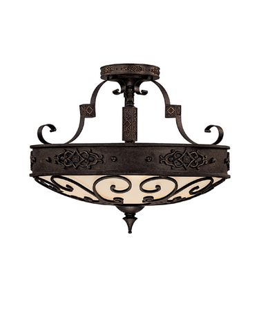 Shown in Rustic Iron finish and Decorative Iron Grille accent
