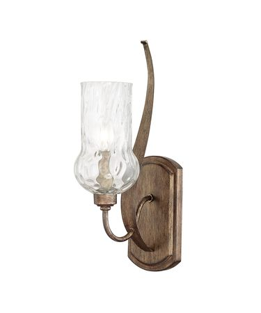 Shown in Rustic finish and Water glass