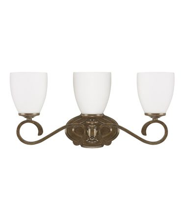 Shown in French Brown finish and Soft White crystal