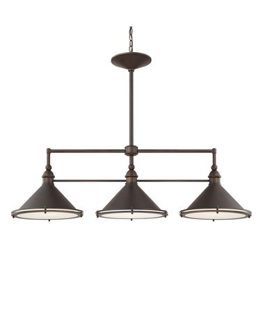 Shown in Burnished Bronze finish and Diffuser glass