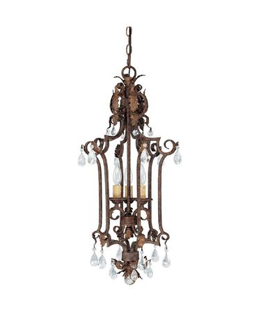 Shown in Gilded Umber finish and Crystal Set Sold Separately crystal
