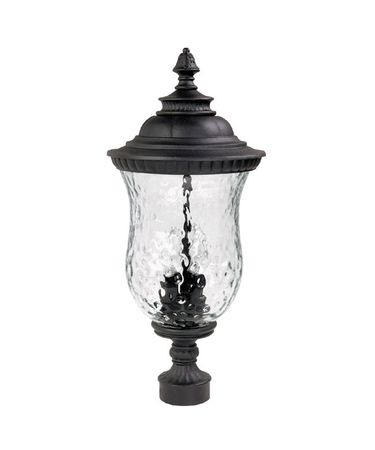 Shown in Black finish and Hammered glass