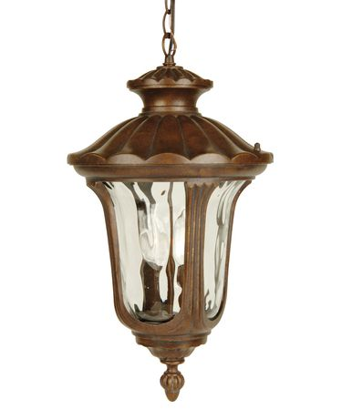 Shown in Aged Bronze finish and Clear Hammered glass
