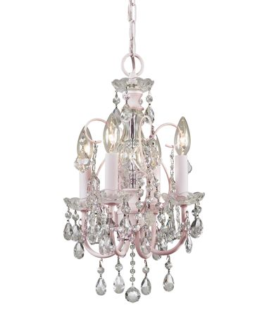 Shown in Blush finish and Hand Polished crystal