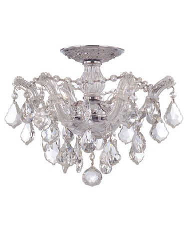 Shown in Polished Chrome finish and Hand Polished crystal