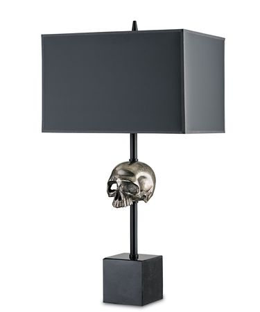 Shown in Antique Nickel finish and Black Parchment shade