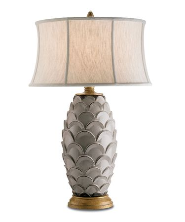 Shown in Antique White-Gold finish and Oatmeal Linen shade