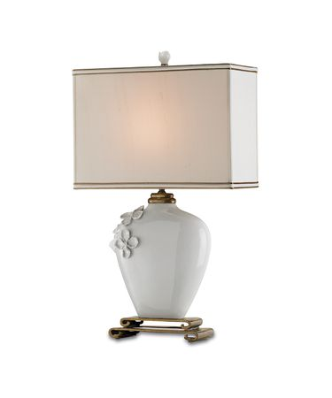 Shown in White finish and Cream Silk shade