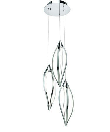 Shown in Chrome finish and Clear Etched Acrylic glass