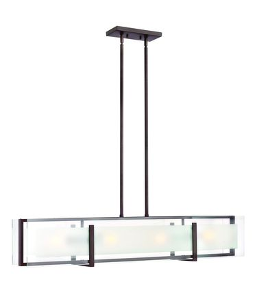 Shown in Oil Rubbed Bronze finish and Clear Beveled Inside-Etched glass