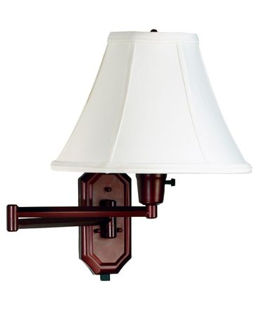 Shown in Bronze finish and Off White Fabric shade