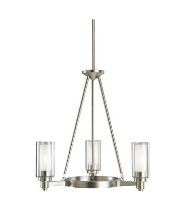 Shown in Brushed Nickel finish and Clear glass