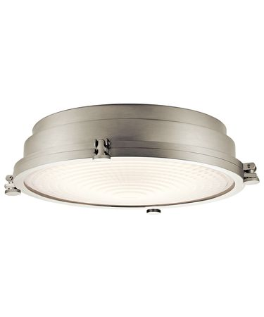 Shown in Brushed Nickel finish and Clear Fresnel glass