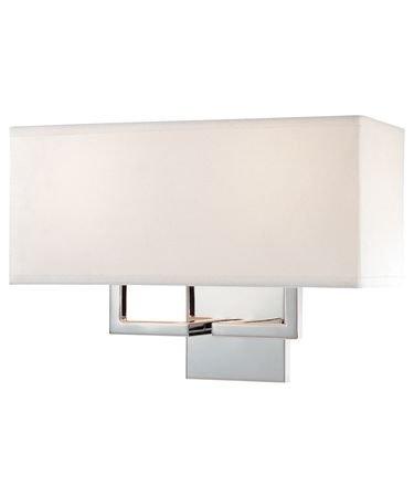 Shown in Chrome finish and White Fabric shade