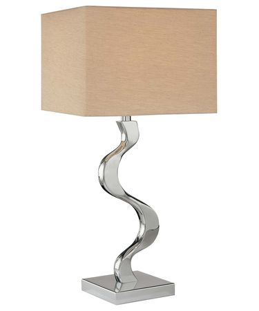 Shown in Chrome finish and Grey Cross Silk shade