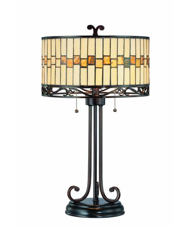 Shown in Dark Bronze finish and Tiffany glass