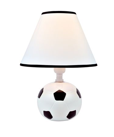 Shown in White-Black finish and White-Black Fabric shade