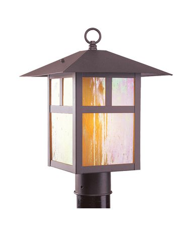 Shown in Bronze finish and Iridescent Tiffany glass