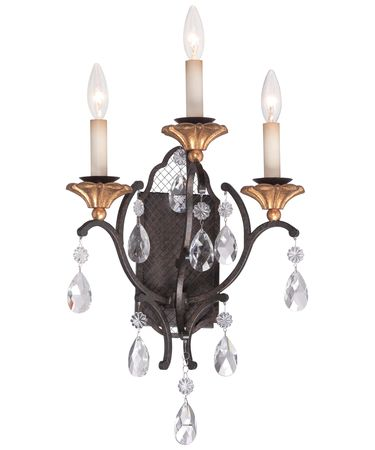 Shown in French Bronze finish and Gold accent