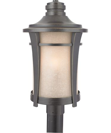 Shown in Imperial Bronze finish and Cream Linen glass
