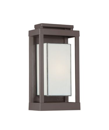 Shown in Western Bronze finish and White Art glass